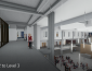 View from interior - architects' rendering of renovated Stevenson Hall